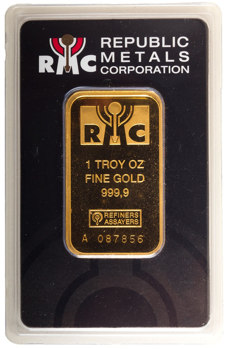 1 Ounce Gold Bar Republic Metals Corp