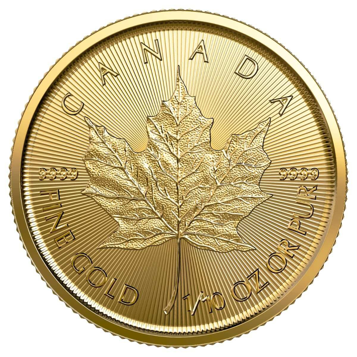 1/10 Ounce Gold Canadian Maple Leaf 2019
