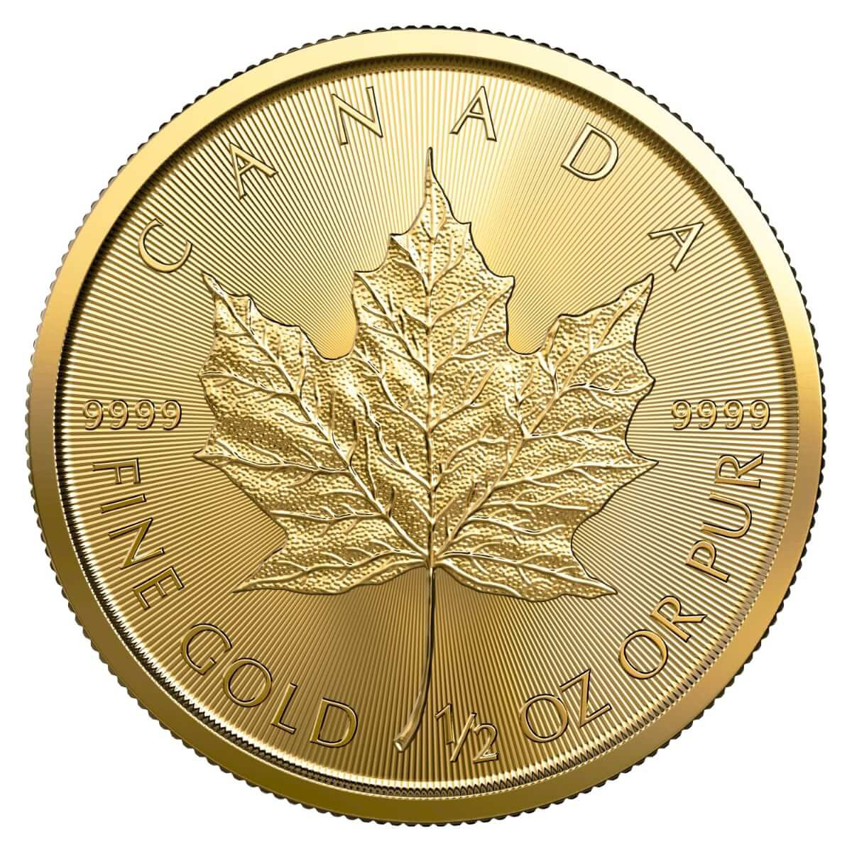 1/2 Ounce Gold Canadian Maple Leaf 2019