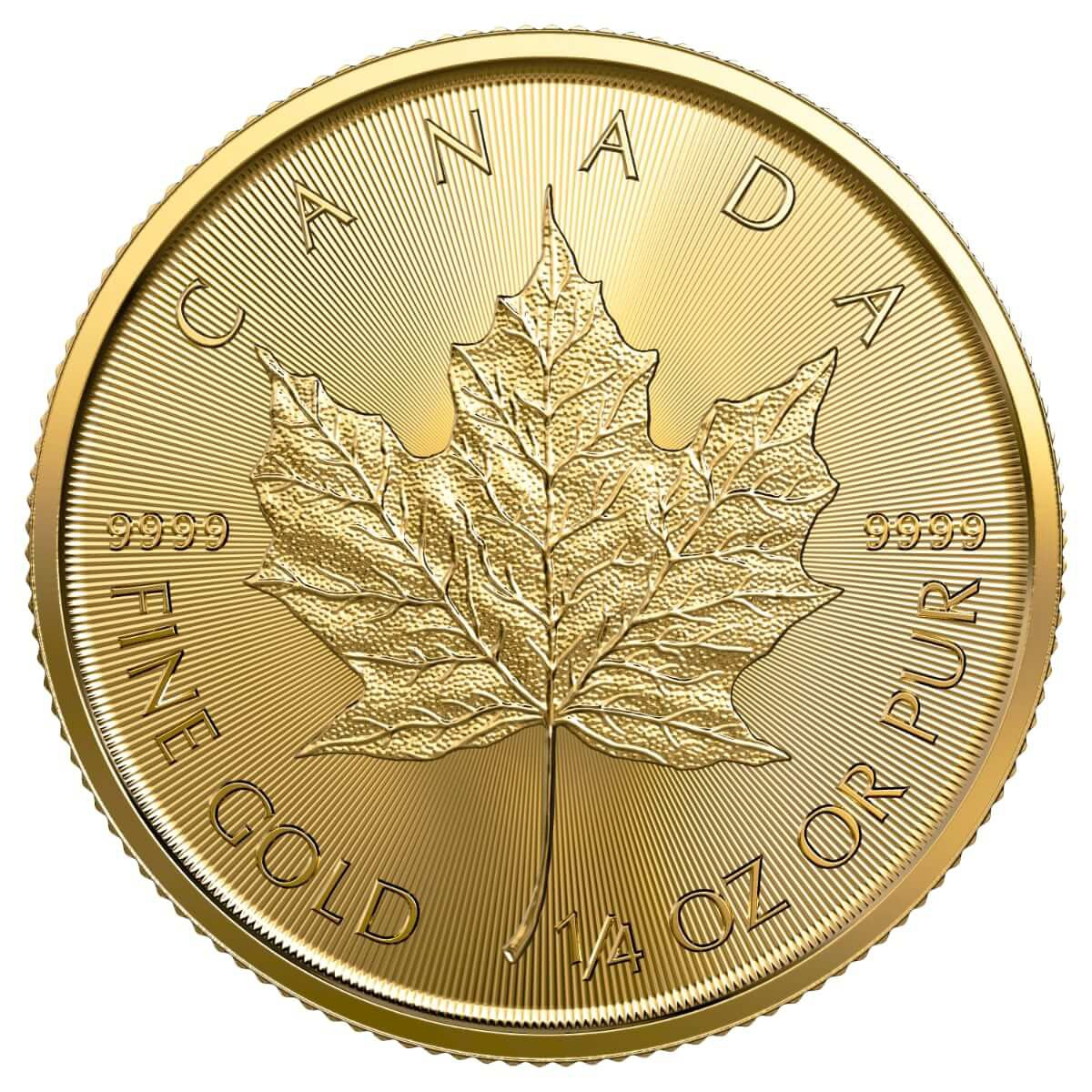 1/4 Ounce Gold Canadian Maple Leaf 2019