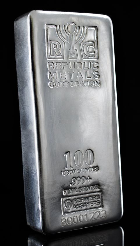 100 Ounce Silver Bar - Republic Metals Corp.