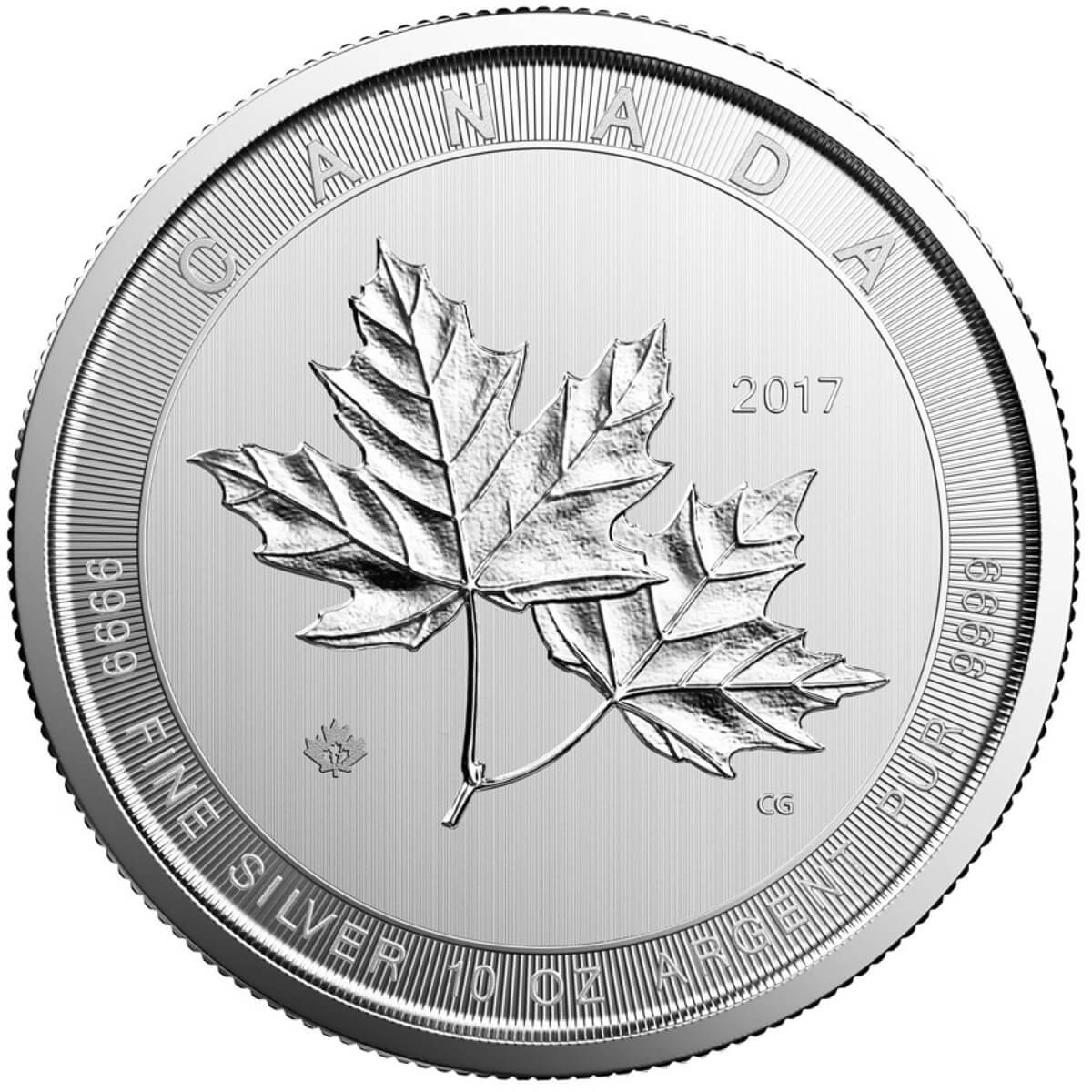 10 Ounce Silver Canadian Magnificent Maple Leaf 2017