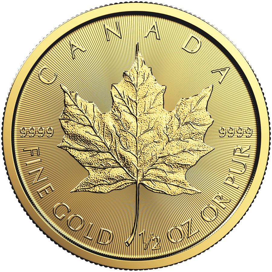 1/2 Ounce Gold Canadian Maple Leaf 2017