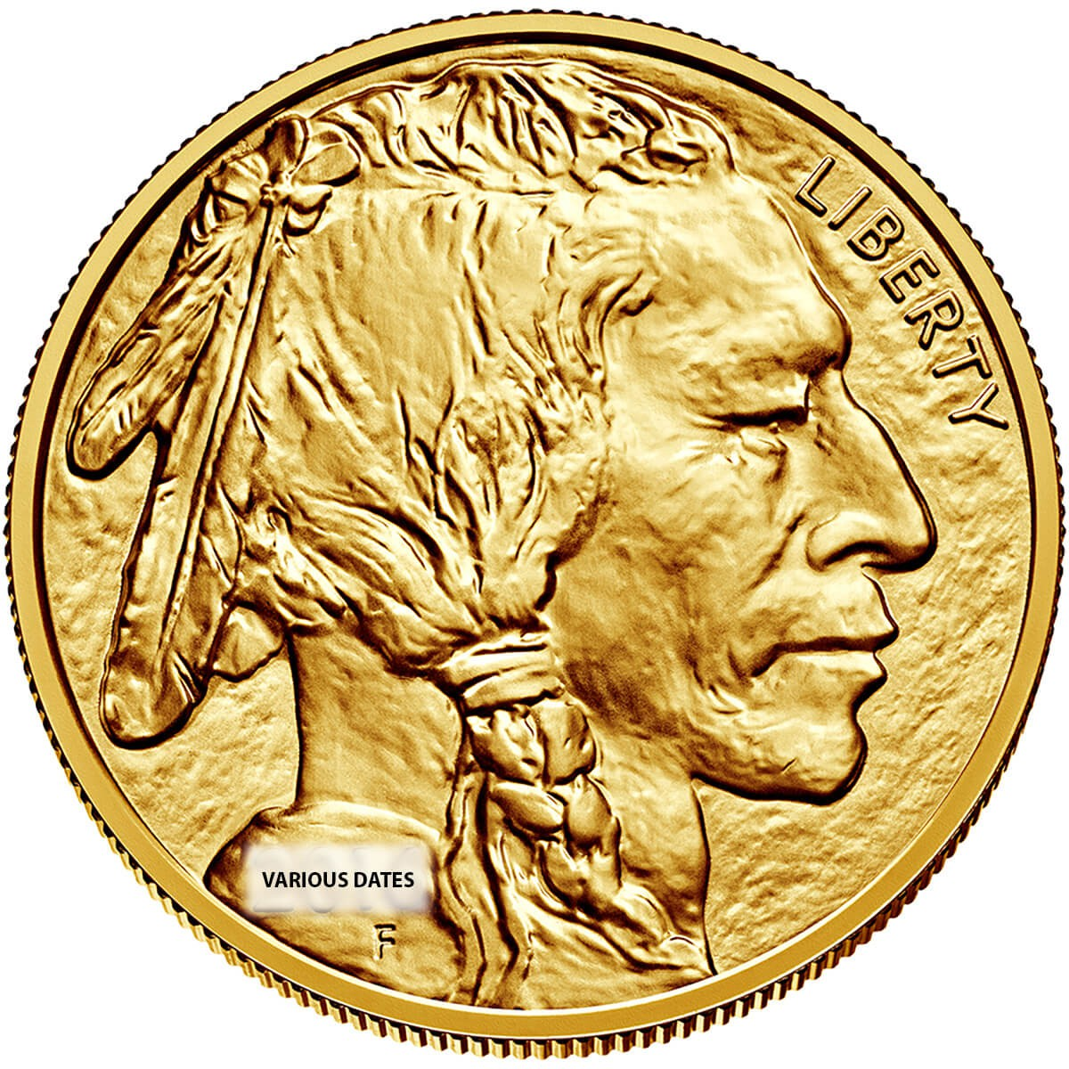 1 Ounce Gold American Buffalo Back Dated