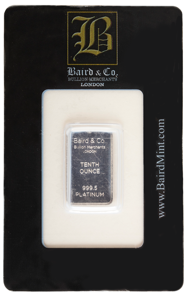 1/10 Ounce Platinum Bar