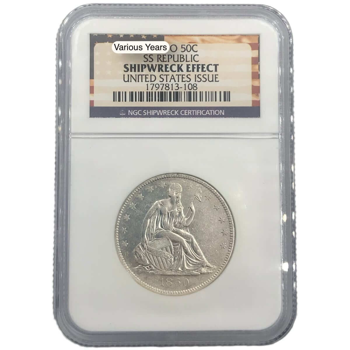 SS Republic Shipwreck Half Dollar