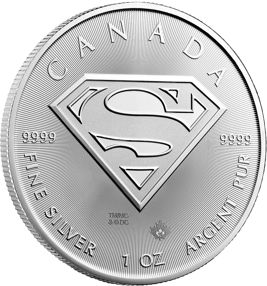 1 Ounce Silver Canadian Superman
