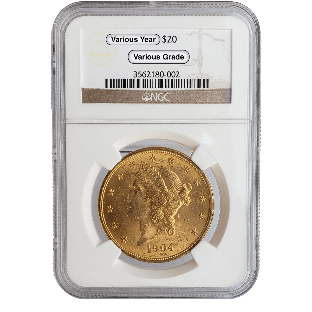 $20 Liberty Gold Double Eagle NGC