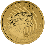 1 Ounce Gold Canadian Growling Cougar 2015