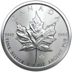 1 Ounce Silver Canadian Maple Leaf 2019