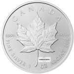 1 Ounce Silver Canadian Maple Leaf Back Dated
