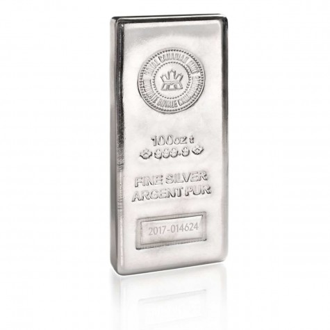 100 Ounce Silver Bar - Royal Canadian Mint