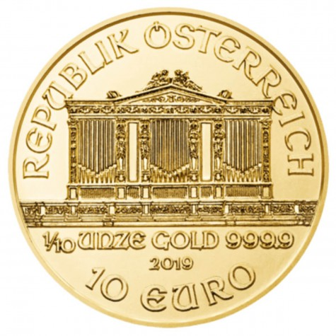1/10 Ounce Gold Austrian Philharmonic 2019