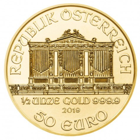 1/2 Ounce Gold Austrian Philharmonic 2019