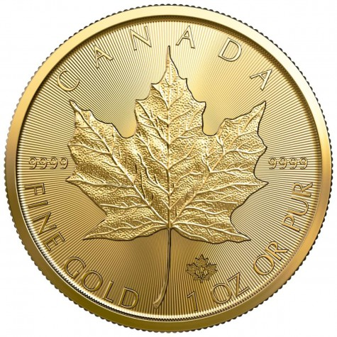 1 Ounce Gold Canadian Maple Leaf 2019