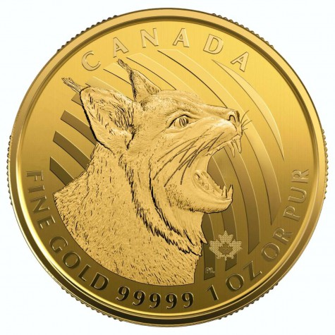 1 Ounce Gold Canadian Call of the Wild Bobcat 2020