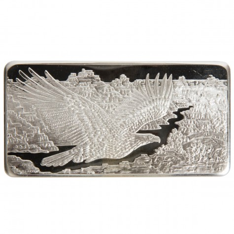 10 Ounce Silver Eagle Bar - Republic Metals Corp.
