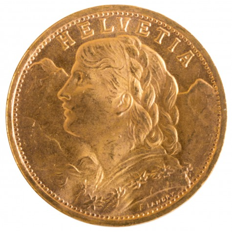 .1867 Ounce Swiss 20 Franc