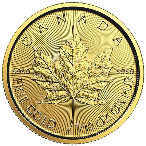 1/10 Ounce Gold Canadian Maple Leaf 2018