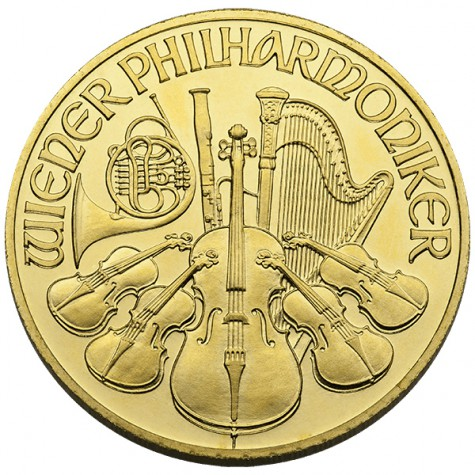 1/2 Ounce Gold Austrian Philharmonic