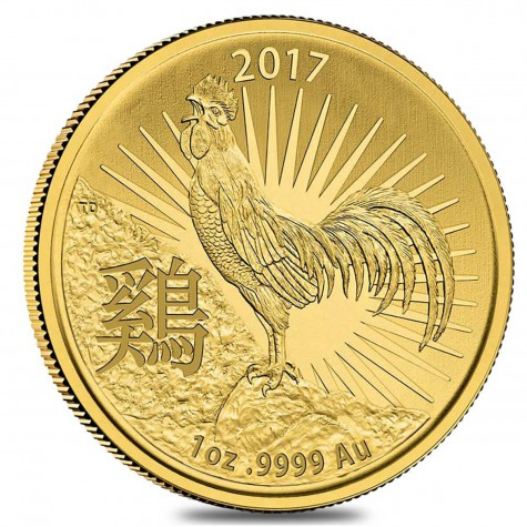 1 Ounce Gold Australian Year of the Rooster 2017