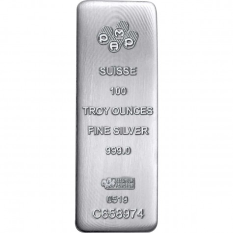 100 Ounce Silver Cast Bar - PAMP