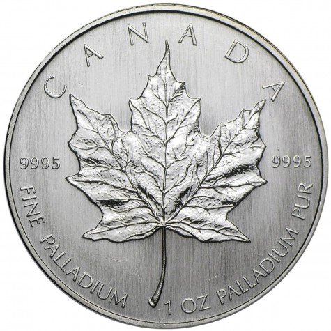 1 Ounce Palladium Canadian Maple Leaf