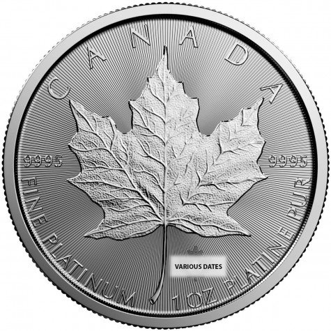 1 Ounce Platinum Canadian Maple Leaf