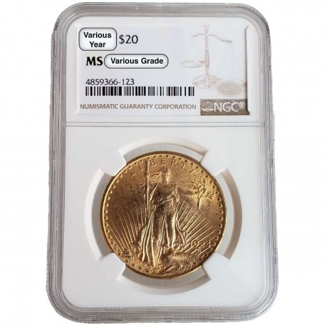 $20 Saint-Gaudens Gold Double Eagle NGC