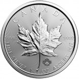 1 Ounce Silver Canadian Maple Leaf 2017