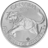 1 Ounce Silver Canadian Cougar 2016