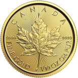 1/10 Ounce Gold Canadian Maple Leaf 2017