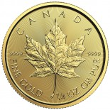 1/4 Ounce Gold Canadian Maple Leaf 2018