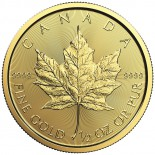 1/2 Ounce Gold Canadian Maple Leaf 2018