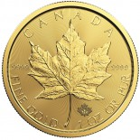 1 Ounce Gold Canadian Maple Leaf 2017