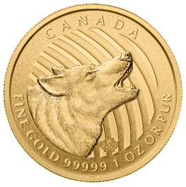 Gold Wolf Coin