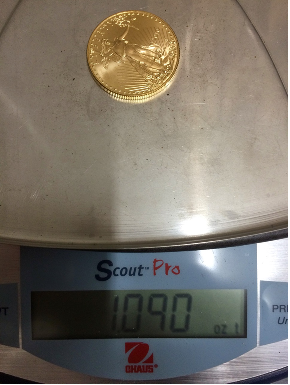 1 Gold Eagle Weigh