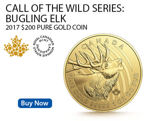 Canadian Bugling Elk gold coin